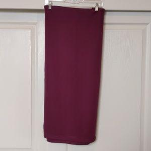 Burgundy Midi Pencil Skirt
